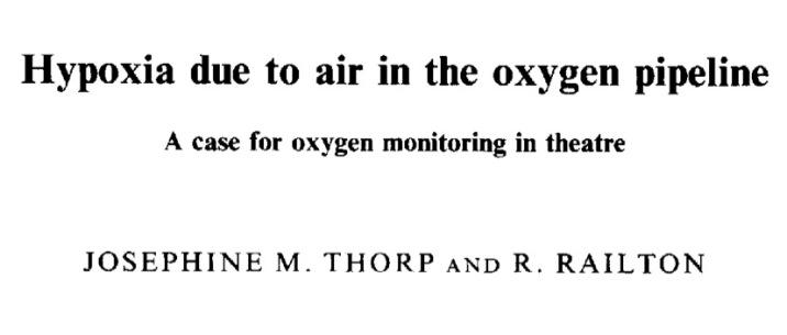 Air contamination O2 pipeline
